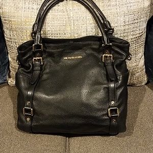 GUC Michael Kors Black Bag with Gold and strap